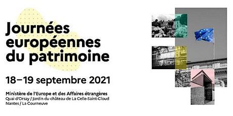 Journées européennes du patrimoine 2021 - Archives Diplomatiques billets