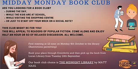 Midday Monday Book Club at Lucan Library tickets
