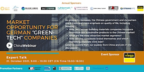 """""""Market Opportunity for German """"Green-Tech"""" Companies"""" tickets"""