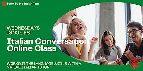 Italian Conversation Online Class tickets