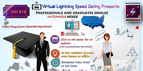 ZOOM Sunday Virtual Dating: Welcoming FALL Season Pros & Grads: 30 to 45 tickets