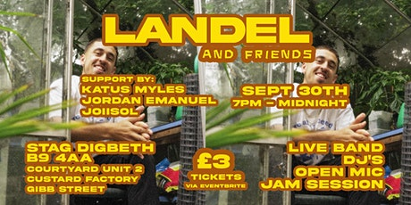 LANDEL & Friends @ Stag Digbeth (plus Open Mic Jam Session) tickets