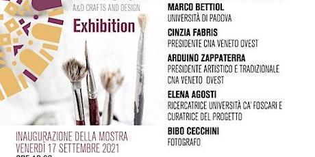 A&D Artigianato e Design - presentazione libro e mostra biglietti