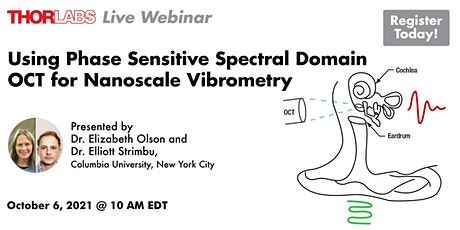 Using Phase Sensitive Spectral Domain OCT for Nanoscale Vibrometry tickets