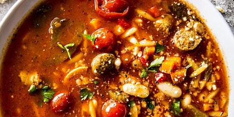 Tuscan Sausage Stew with a Prosciutto and Cheese Stuffed Bread tickets
