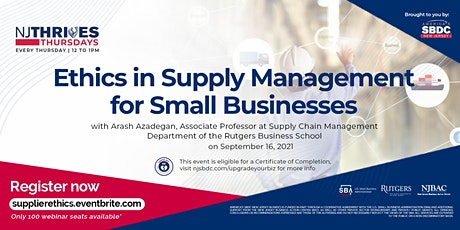 Ethics in Supply Management for Small Businesses tickets