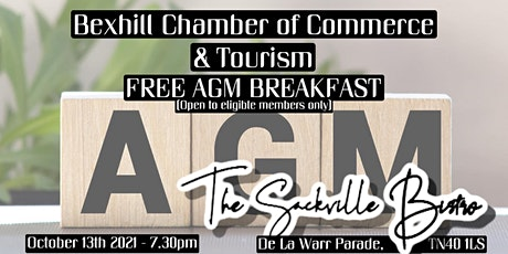 Bexhill  Chamber of Commerce  FREE networking breakfast and AGM tickets
