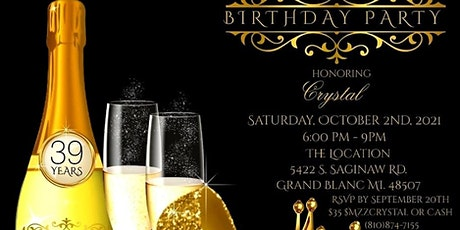 Crystal Sip&Paint Birthday Party tickets