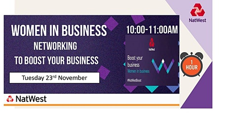 Women in Business Networking for Sussex and Kent - November tickets