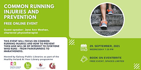 Healthy Ireland At Your Library: Common running injuries and prevention tickets