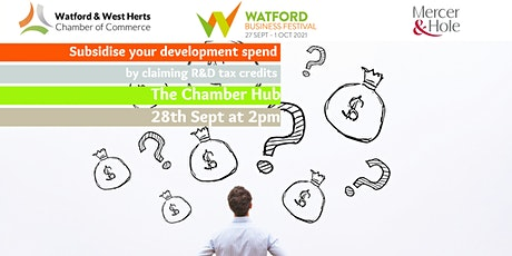 Subsidise your development spend by claiming R&D tax credits tickets