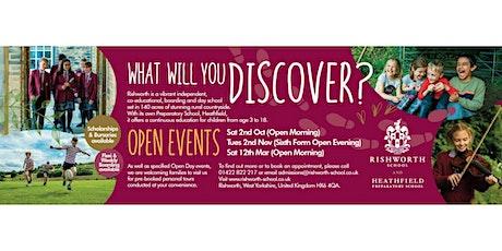 Rishworth School Open Day tickets