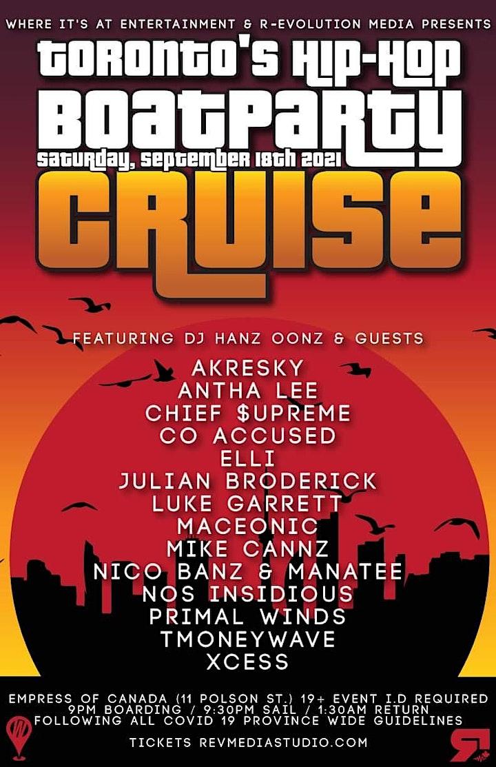 09.18 Toronto's Hip-Hop Boat Cruise image