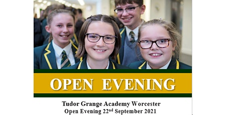 Tudor Grange Academy Worcester Open Evening 2021 tickets