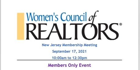 Women's Council of REALTORS® NJ General Membership Meeting & 2022 Elections entradas