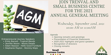 Trenval and Small Business Centre  2021 Annual General Meeting tickets