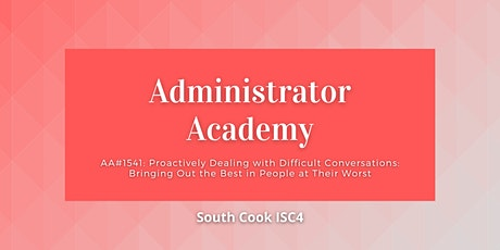 AA#1541 Proactively Dealing with Difficult Conversations: Bringi... (06998) tickets