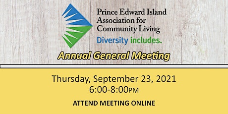 Attend ONLINE - PEIACL Annual General Meeting tickets