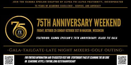 Gamma Epsilon's 75th Anniversary Weekend and Gala tickets