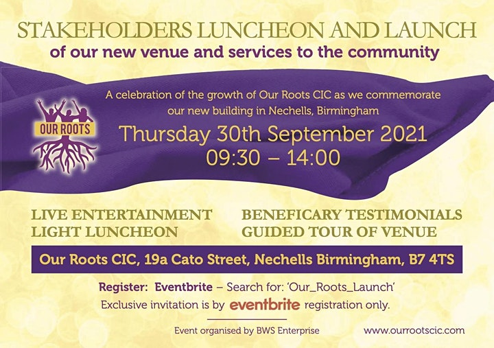Our Roots Stakeholders Luncheon & Launch image