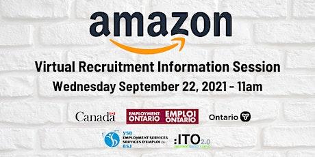 Amazon Virtual Recruitment Information Session tickets