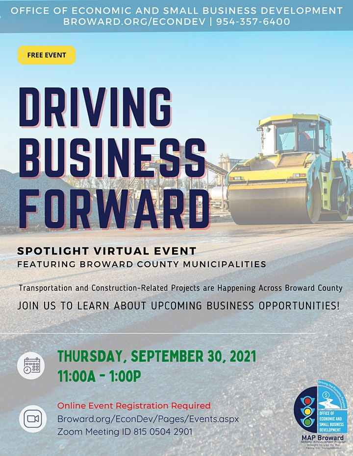 Driving Business Forward Spotlight Event with Broward Municipalities image