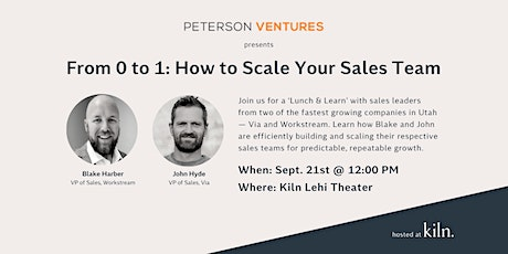 From 0 to 1: How to Scale Your Sales Team tickets