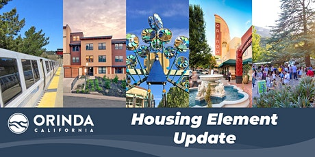 City of Orinda Housing Element Update Focus Group Meeting tickets