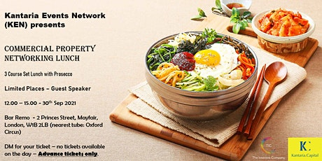 Commercial Property Networking Lunch - 3 Course Lunch with welcome Prosecco tickets