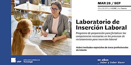 2º Laboratorio de Inserción Laboral biglietti