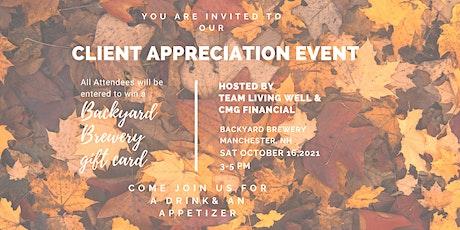 Fall Client Appreciation Event tickets