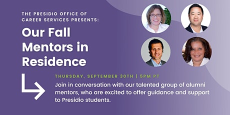 Career Services Webinar: Meet the Mentors in Residence tickets