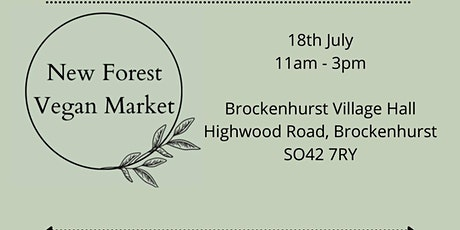 New Forest Vegan Market tickets
