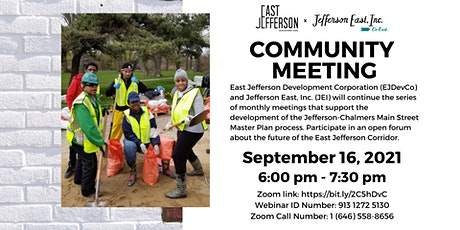 Jefferson-Chalmers Mainstreet Master Plan Virtual Community Meeting tickets