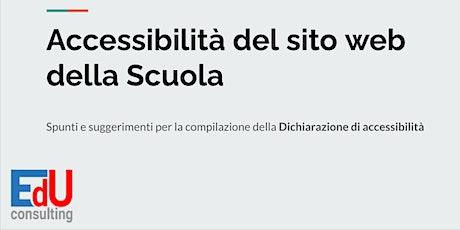 Evento Gratuito - DICHIARAZIONE DI ACCESSIBILITA' PER IL SITO WEB 2021 tickets