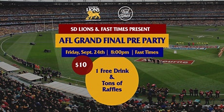 San Diego Lions AFL Grand Final Night Pre Party tickets