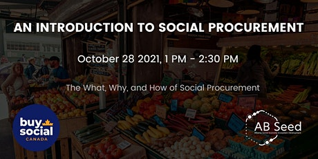 An Introduction to Social Procurement tickets