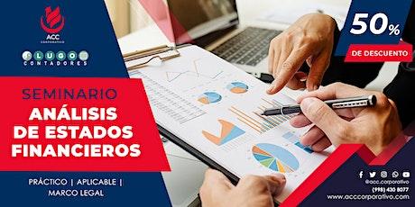 SEMINARIO ANÁLISIS DE ESTADOS FINANCIEROS entradas