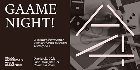 GAAme Night! A Creative & Interactive Evening of Artist-Led Games tickets
