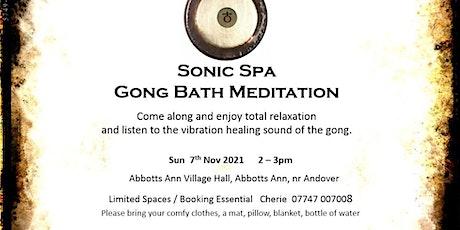Sonic Spa Gong Bath Meditation - 7th November 2021 (Abbotts Ann Hall) tickets