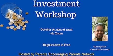 Investment  Workshop tickets