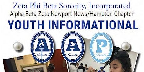 Alpha Beta Zeta Virtual Youth  Informational tickets