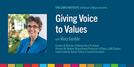 POSTPONED: Giving Voice to Values tickets