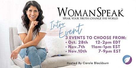 Unleash The Power of Your Voice - WomanSpeak™ Ottawa ON Intro Event tickets