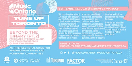 Beyond the Binary Pt. 2: Working w/ Trans Communities in the Music Industry tickets