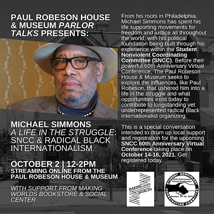 PARLOR TALKS: Michael Simmons - SNCC & Radical Black Internationalism image