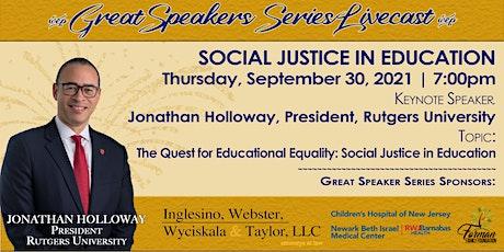 NAACP: Oranges & Maplewood Branch Great Speaker Series 3 tickets