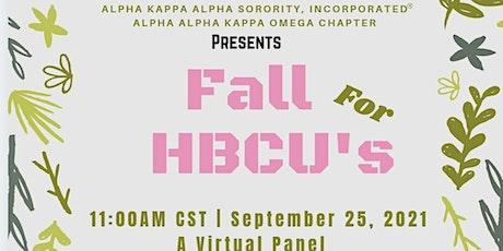 Fall for HBCU's: Panel & Mini College Fair tickets