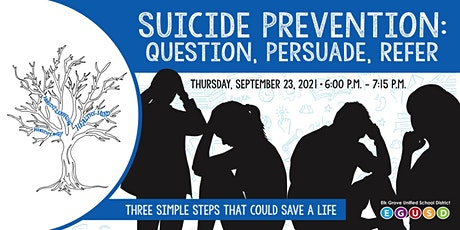 Suicide Prevention: Question, Persuade and Refer (QPR) tickets
