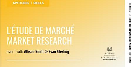 CEE : L'étude de marché | EMC: Market Research tickets